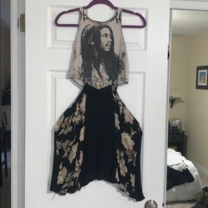 LF bob marley cut out dress